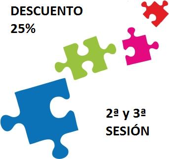 25% de descuento en 2ª y 3ª sesión, para personas que presenten este cupón.